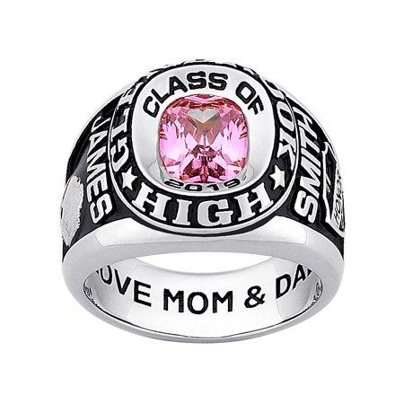 Personalized Men's Classic Platinum Plated Celebrium Double Row Class Ring](Inexpensive Class Rings)