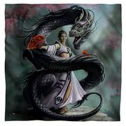 """Anne Stokes - Dragon Dancer - Bandana - 22"""" x 22"""""""