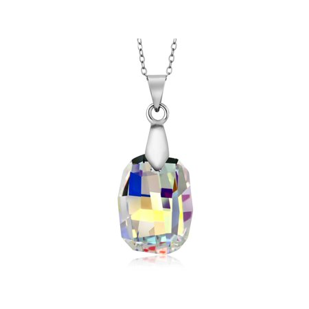 Collection Aurora Borealis Pendant Created with Swarovski Crystals