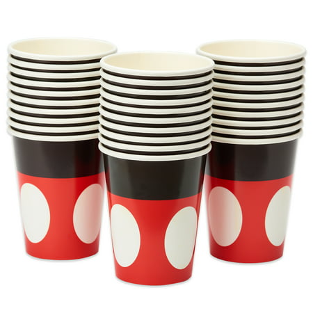 American Greetings Mickey Mouse 9 oz. Paper Cups, 30-Count (Mickey Mouse Halloween Party Supplies)