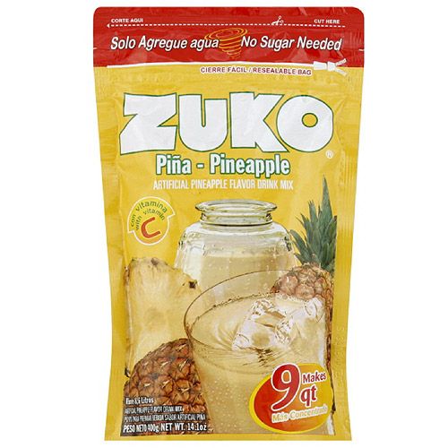 ***Discontinued by Kehe 07_20***Zuko Pineapple Drink Mix, 14.1 oz (Pack of 12)
