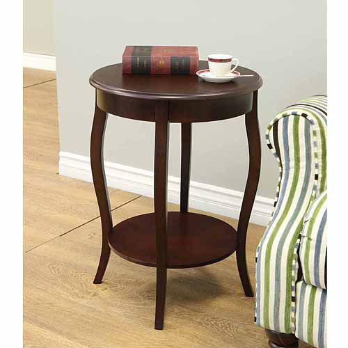 "Home Craft Walnut 18"" Round Accent Table by Megaware Furniture"