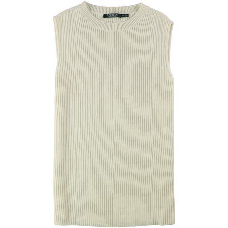Ralph Lauren Womens Textured Pullover Sweater, Off-White, X-Large
