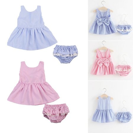 Princess Jasmine Outfit (2PCS Newborn Toddler Baby Girls Tutu Princess Bow Dress+Short Pants Outfits Set)