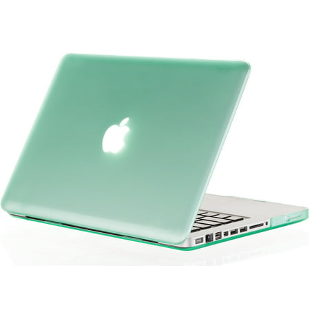 online store 7bf80 f6ba0 Kuzy - 15-inch GREEN Rubberized Hard Case Cover for Apple MacBook Pro 15.4