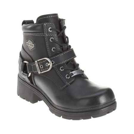 Harley-Davidson Women's Tegan 4-Inch Black Lace-Up Boots. D84424, Harley Davidson](Harley Flame Boots)