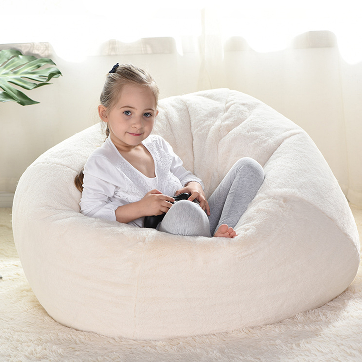 XL Large Bean Bag Chair Cover Indoor Lazy Manmade Rabbit ...