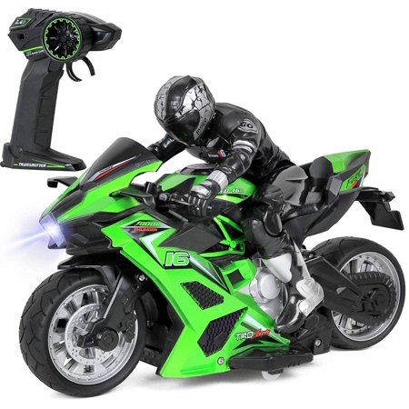 Click N Play Cross Country High Speed RC Remote Control Stunt Motorcycle With Riding Figure.Colors and Styles May Vary!