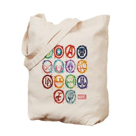 c0eda3cc006 CafePress - Marvel All Splatter Icons - Natural Canvas Tote Bag, Cloth  Shopping Bag