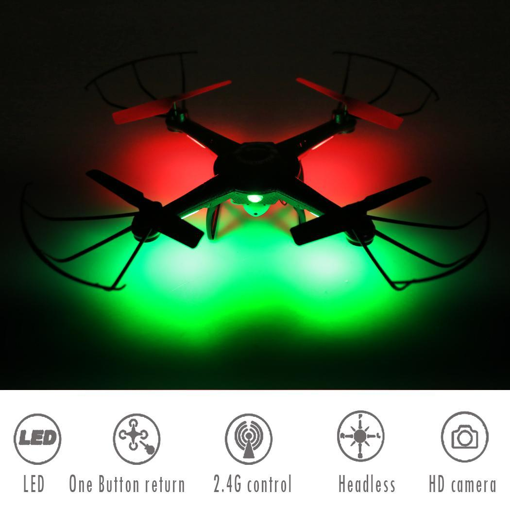 Auto Return Quadcopter Drone with 2.4GHz Control and 6-Axis Gyroscope LED Camera RC Drone by