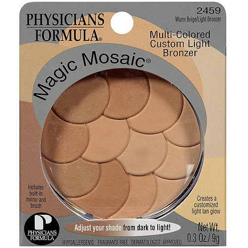 Physicians Formula Magic Mosaic Multi-Colored Custom Bronzer, Warm Beige/Light Bronzer 2459