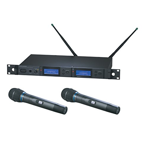 Audio-Technica AEW-5255AC 5000 Series Dual Wireless Handheld Condenser Microphone System by