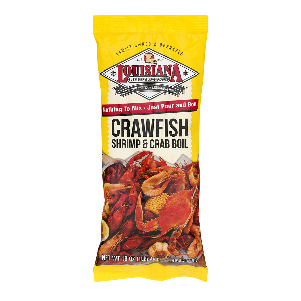Louisiana Fish Fry Crawfish Crab & Shrimp Boil, 16 oz by Louisiana Fish Fry Products, Ltd.