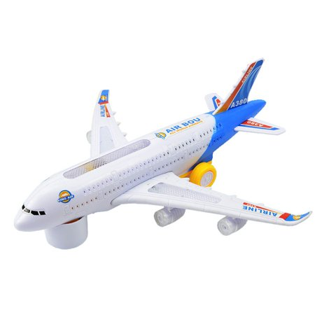 Electric Powered Airplanes - Tinymills Electric Airplane Flashing Lights Sounds Children Aeroplane Funny Playing Toy For Kids Gift