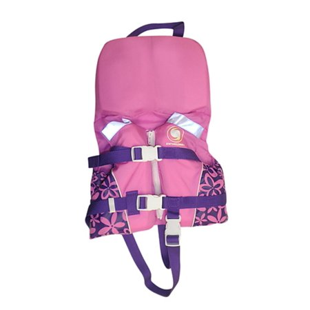 USCG Approved Pink Infant Life Vest with Handle for Girls - Up to 30lbs
