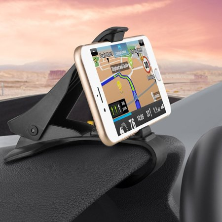 Premium Non-Slip Car Dashboard Mount Phone Holder Dock [Strong Grip] [Black] R1X for iPhone 5 5C 5S 6 Plus 6S Plus 7 Plus 8 PLUS SE X, Ipod Touch 1st Gen 2nd Gen 3rd Gen 4th Gen 5 ()