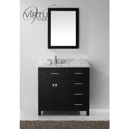 Virtu Caroline Parkway 37 Single Bathroom Vanity Set With Mirror I