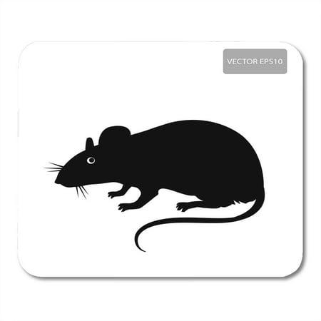 KDAGR Black Mouse Rat Silhouette on The White Disease ...