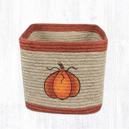 Earth Rugs SBP-003 Harvest Pumpkin Square Printed Basket 8