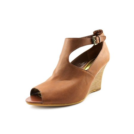 30ac7efc8c465c Lauren Ralph Lauren - Lauren Ralph Lauren Hannie Women Open Toe Leather Tan  Wedge Sandal - Walmart.com