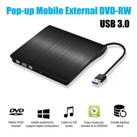 External DVD Drive, USB 3.0 External DVD RW CD Writer Drive Burner Reader Player Optical Drives For PC