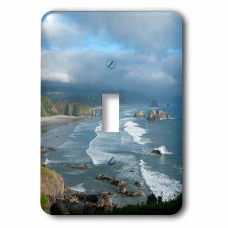 3dRose The Oregon coast and Cannon Beach from Ecola State Park, Oregon., 2 Plug Outlet Cover (Oregon Outlets)