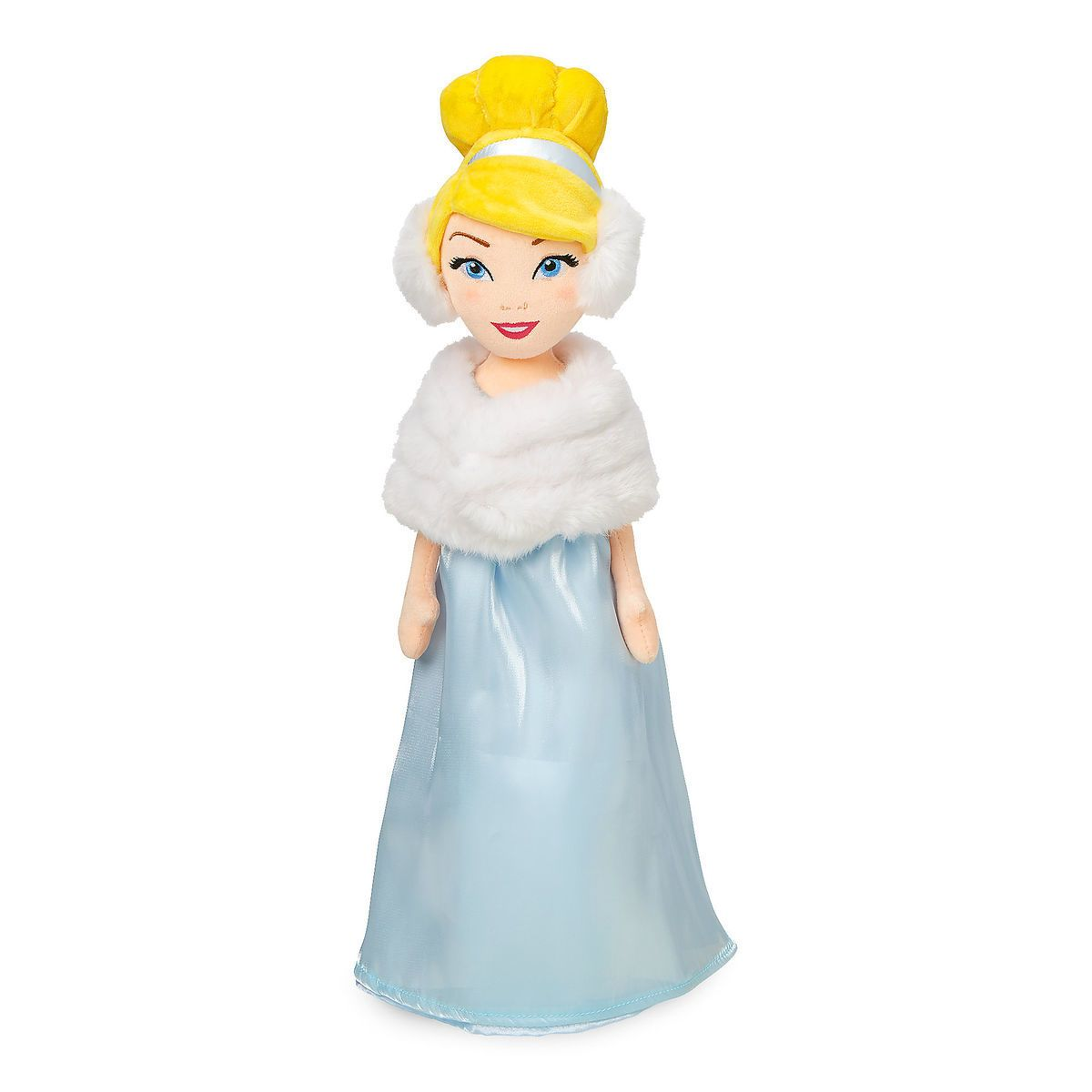 Disney Cinderella Plush Doll in Winter Cape Medium New with Tags