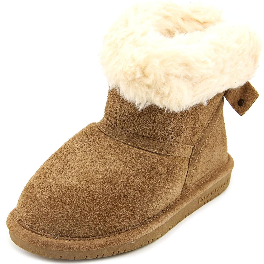 Bearpaw Harper Toddler Youth  Round Toe Suede Tan Winter Boot