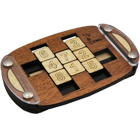 Up & Down - Sliding Wooden Brain Teaser Puzzle (Sliding Puzzles)