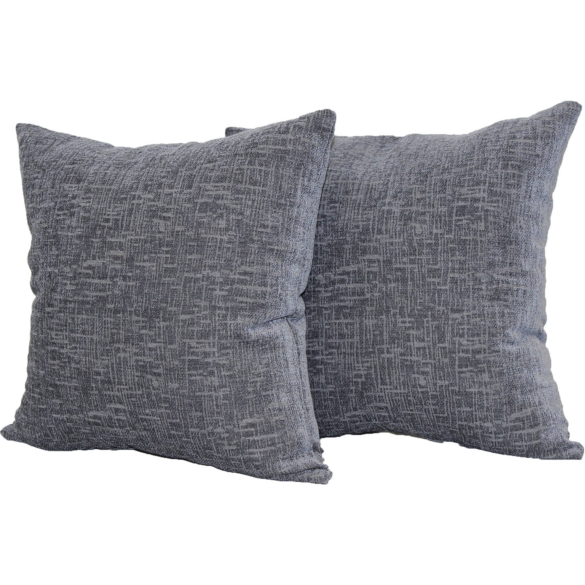 Mainstays Decorative Chenille Pillow, Two-Pack, Gray