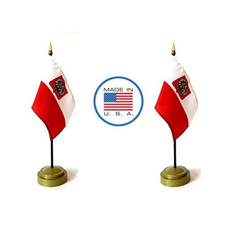 Made in The USA Flag Set. 2 Poland Eagle Rayon 4