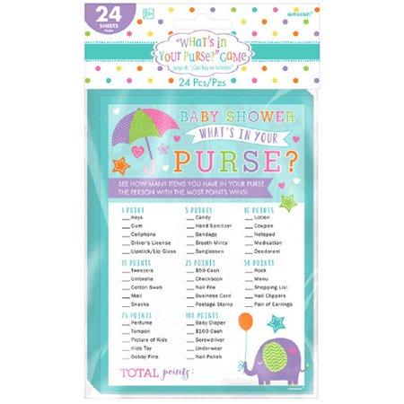 Baby Shower 'What's In Your Purse' Party Game (1ct)](Baby Shower Bag Game)