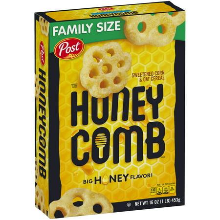 Cereal Dish - (2 Pack) Post Honey Comb Corn & Oat Breakfast Cereal, 16 Oz