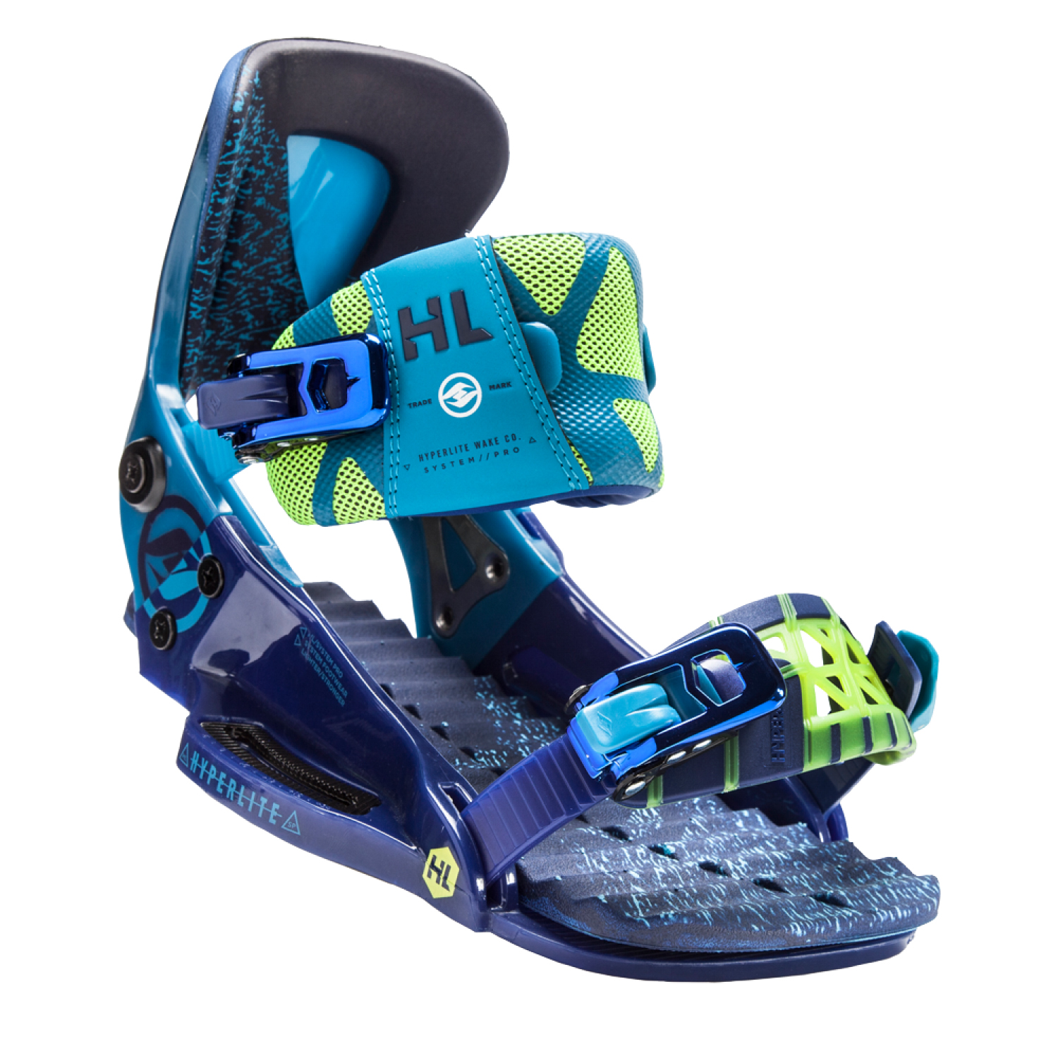 Hyperlite 2018 The System Pro (Blue Shades) Wakeboard Bindings-6-9 by