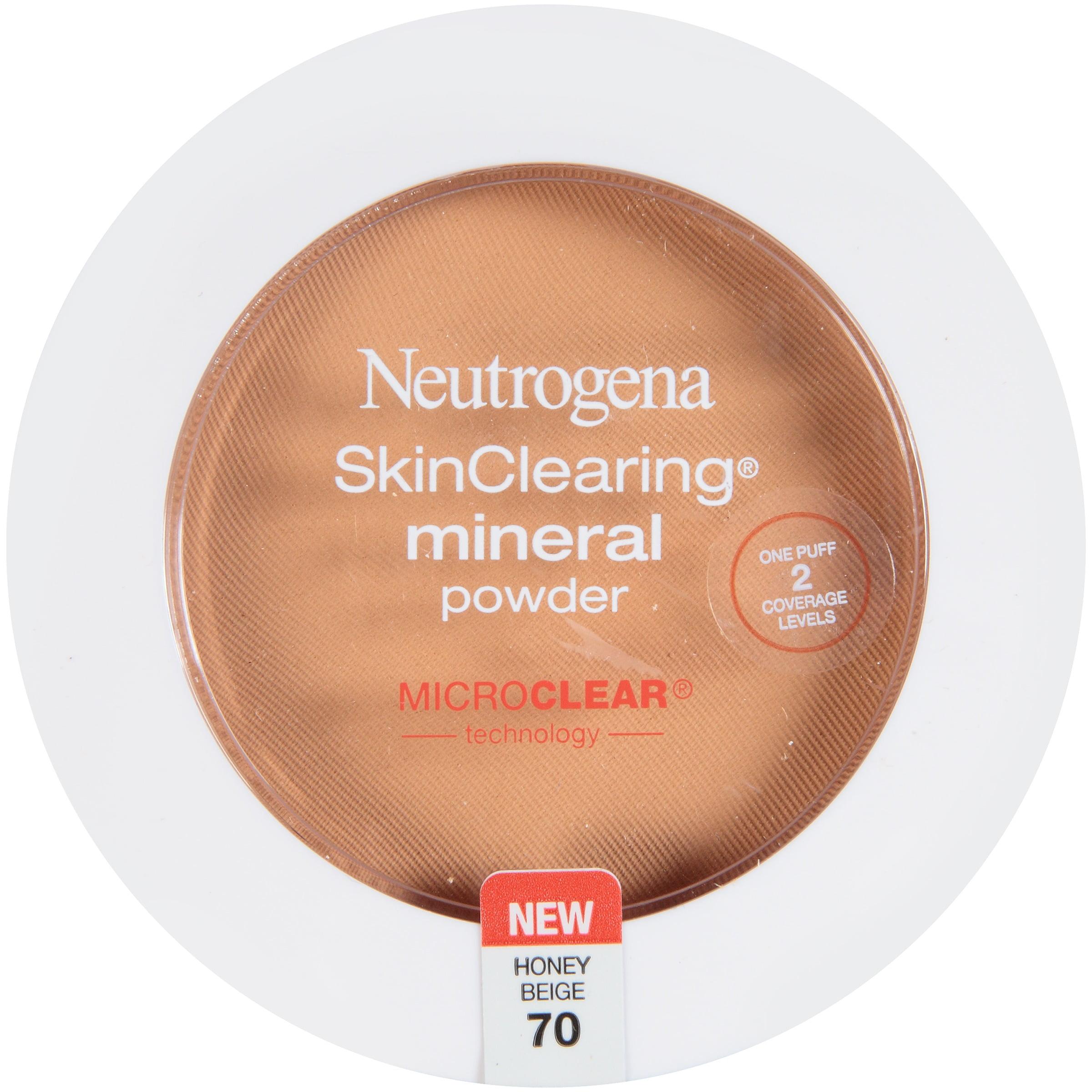 Maquillaje Para Ojos Neutrogena Skinclearing Mineral polvo, Beige Miel 70,.38 Oz + Neutrogena en Veo y Compro