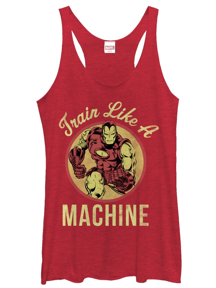 Marvel Women's Iron Man Train Like a Machine Racerback Tank Top