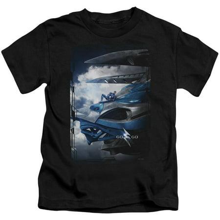 Power Rangers Blue Zord Poster Little Boys Juvy Shirt