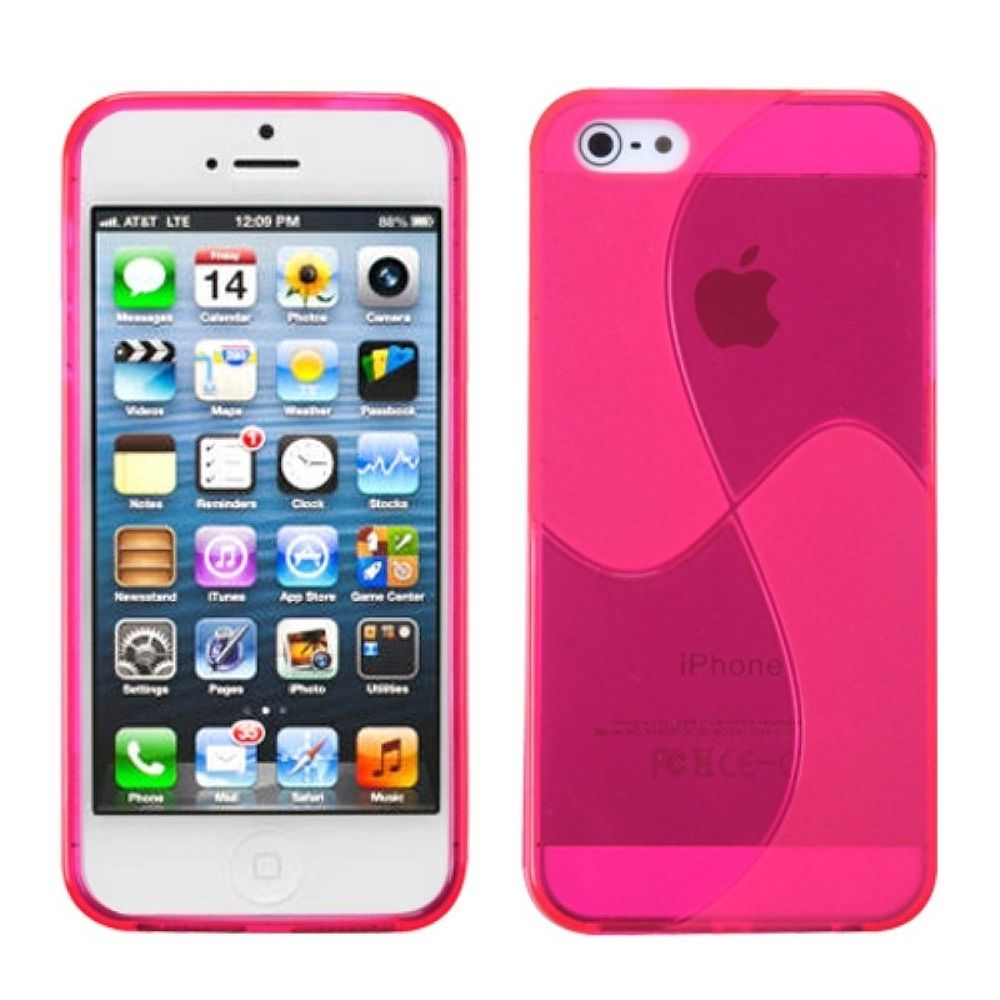 Insten Windmill TPU Transparent Case For Apple iPhone 5/5S/SE - Pink