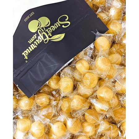 Washburn Wrapped Ginger Balls | Natural Ginger Candy | Retro Hard Candies | 15oz
