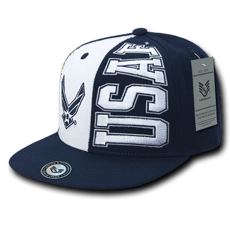 - Rapid Dominance US Military Air Force Stack Up Flat BIll Hats Caps
