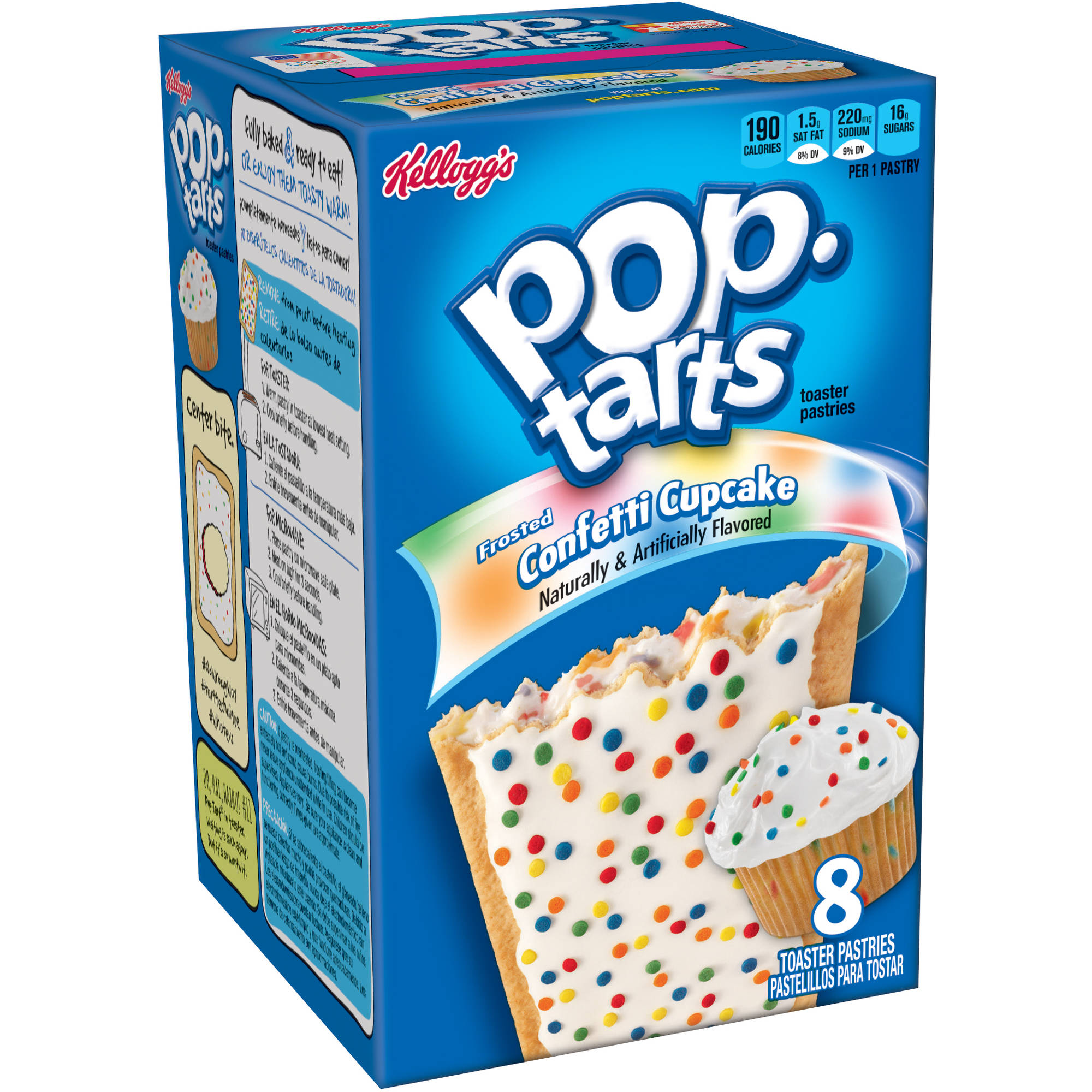 Kellogg's Pop-Tarts Frosted Confetti Cupcake, 8 count, 14.1 oz