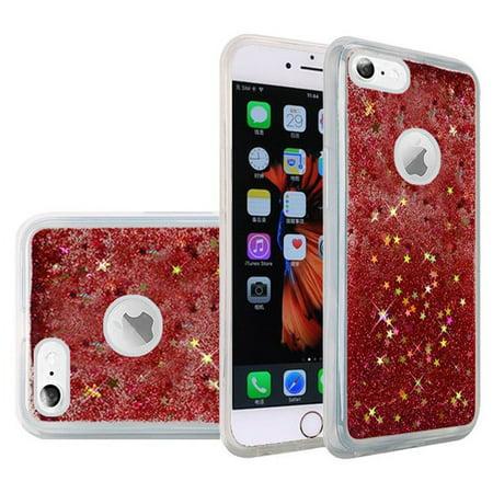Sparkling Back Cover Case - iPhone 6S Plus Case, Premium Luxury Glitter Sparkle Bling Quicksand Designer Case [Slim Fit TPU Back Cover] Fashion Style Cover for Apple iPhone 6 Plus, iPhone 6s Plus - Rose Pink, Bumper Grip