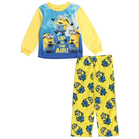 Toddler Boy Minion Pajama 2 Piece Set Up in the - Minion Dressing Up Outfit