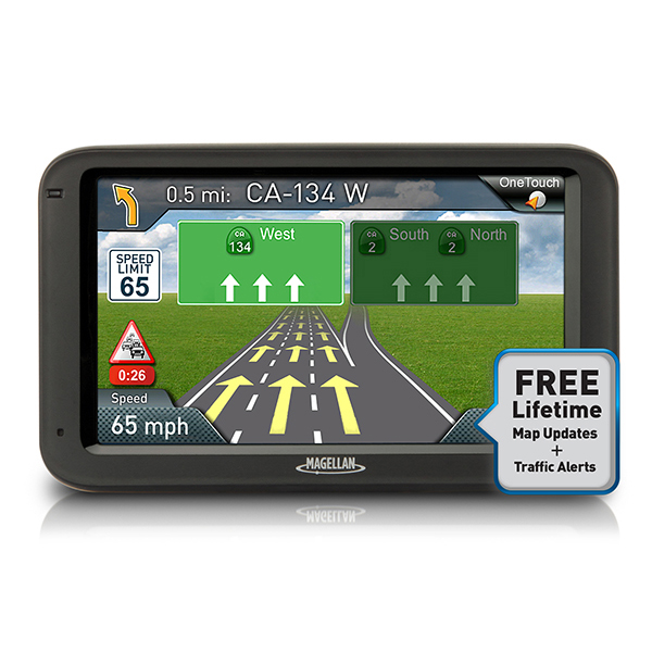 "Magellan RoadMate 5265T-LMB 5"" Touchscreen Lifetime Maps/Traffic GPS Navigator"