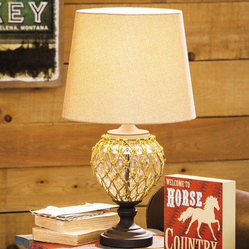 Evergreen Enterprises, Inc 24.75'' H Table Lamp with Empire Shade