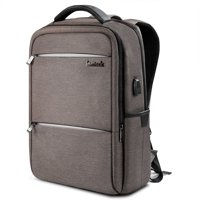 Inateck Laptop Backpack with USB Charging Port Fits Up to 15.6 Inch Laptop,Brown