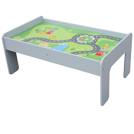 Pidoko Kids Train Table, Grey - Perfect Toy Gift Set for Boys & Girls (Gray) - Activity Table That is Compatible with All Major Brand Train - Girl Train Table