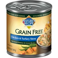 Nature's Recipe Grain Free Chicken & Turkey Stew Wet Dog Food, 10-Ounce, Single Can