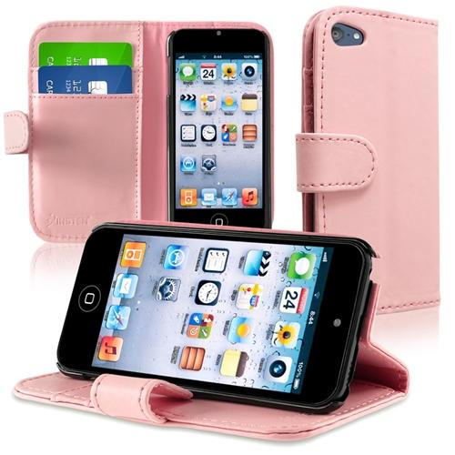 Insten Leather Wallet Case with Card Holder For Apple iPod touch 6 6th 5 5th Gen, Pink