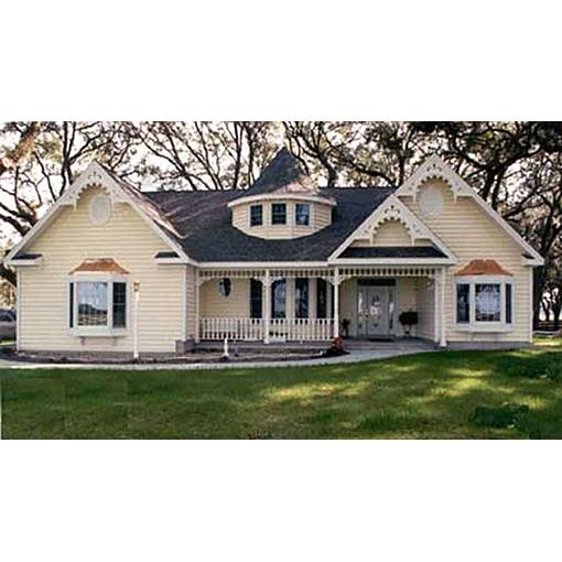 TheHouseDesigners-2803 One-Story Victorian House Plan with Crawl Space Foundation (5 Printed Sets)